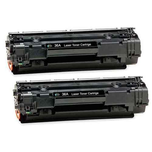 HP 36A CB436AF Twin Pack Black LaserJet Toner Cartridge price in hyderabad, telangana, nellore, vizag, bangalore